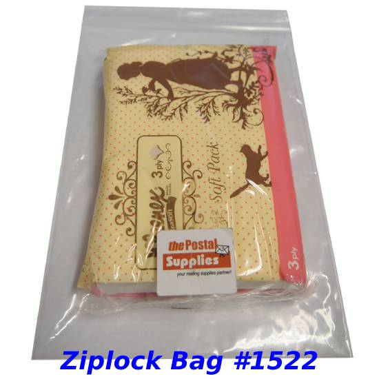 Thick Clear Ziplock Bags (No Red Lines) #1522