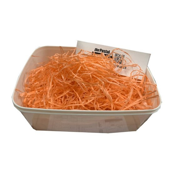 Bright Orange Shredded Paper