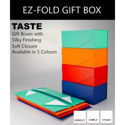 Ez-Fold Designer Rigid Rectangular Gift Box with Magnetic Closure