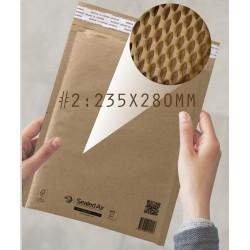 Jiffy Padded Lite Kraft Honeycomb Paper Padded Mailer #2