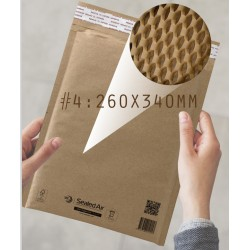 Jiffy Padded Lite Kraft Honeycomb Paper Padded Mailer #4
