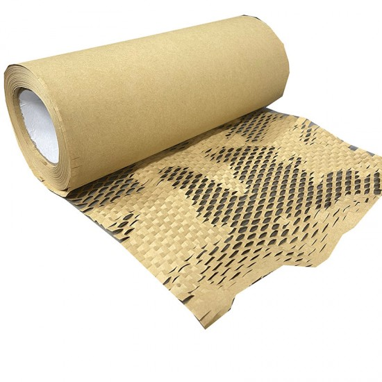 Eco-Friendly Kraft Honeycomb Mesh Wrapping Paper Void Filler / Cushioning & Filler (W: 30cm)