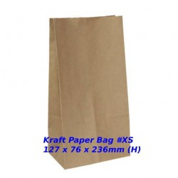 Eco-Friendly Recyclable Kraft Paper Bag #XS