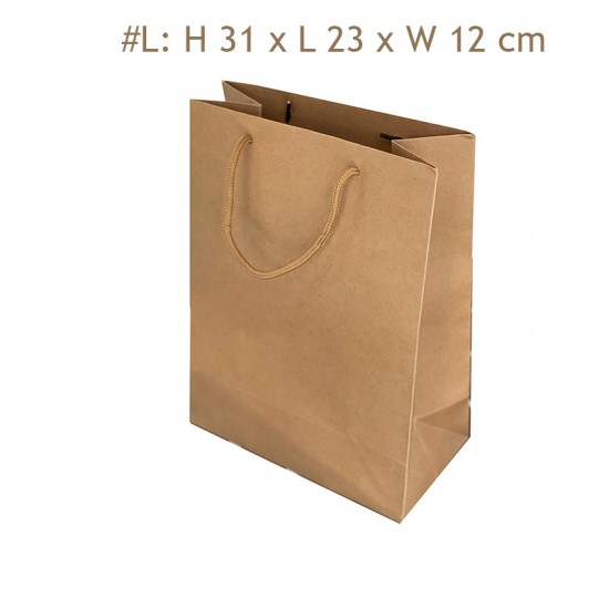 Eco-Friendly Recyclable THICK Kraft Paper Shopping Bag with Handle