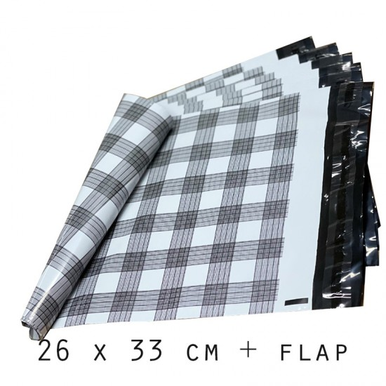 Designer PolyMailer Bags [Black and White Checked]