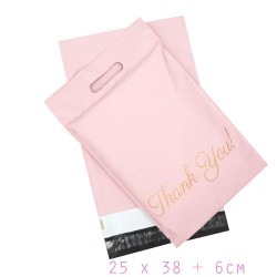 PolyMailer Bags with Handle [Pink Thank You]