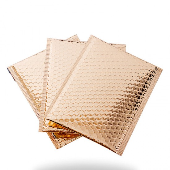 Rose Gold Poly Metallic Bubble Mailer #S1823