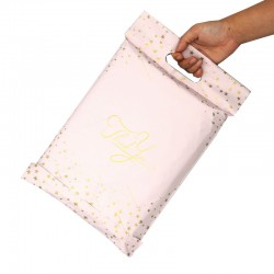 PolyMailer Bags with Handle [Pink with Stars]