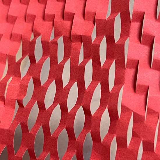 Eco-Friendly Kraft Red Honeycomb Wrapping Paper Void Filler / Cushioning & Wrap [5m]