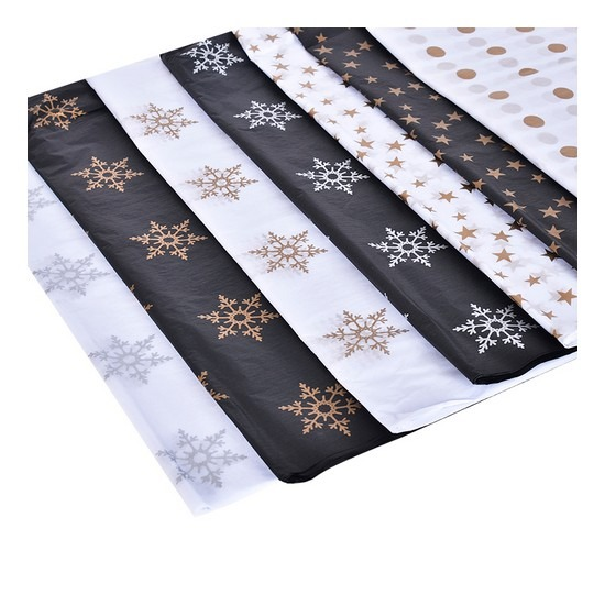 20pcs Designer Printed Tissue Papers - Snow Flakes