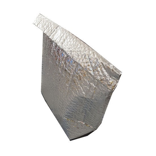 Pre-Order Thermal Insulated Metallic Silver Bubble Bags For Food Products [No Base]