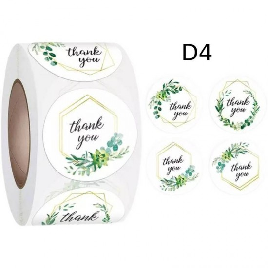 Small Thank You Round Stickers Dia. 25mm