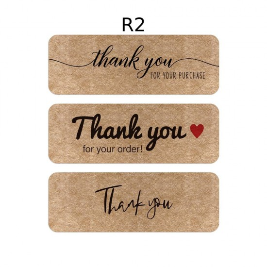 Small Rectangular Thank You Stickers