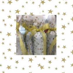 20pcs Designer Printed Tissue Papers - Mix Stars 45x78cm