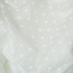 20pcs Designer Printed Tissue Papers - White Dots