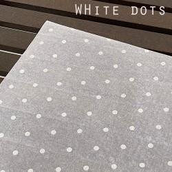 20pcs Designer Printed Tissue Papers - White Dots