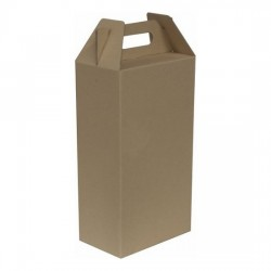KRAFT WINE BOX #GH-01 (10PCS/ BUNDLE) *Pre-Order; No Exchange/ Return*