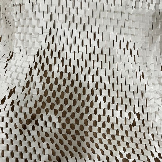 WHITE Eco-Friendly Kraft Honeycomb Mesh Wrapping Paper Void Filler [Roll]