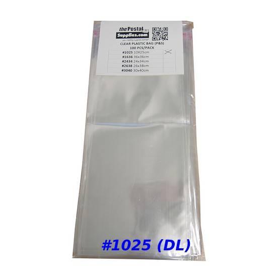 Clear Adhesive Plastic Bag #1025 (DL)