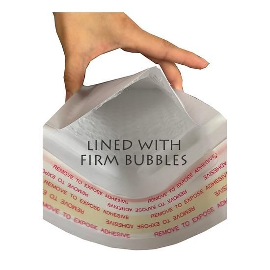 S5 Size White Kraft Bubble Mailer (Wholesale)