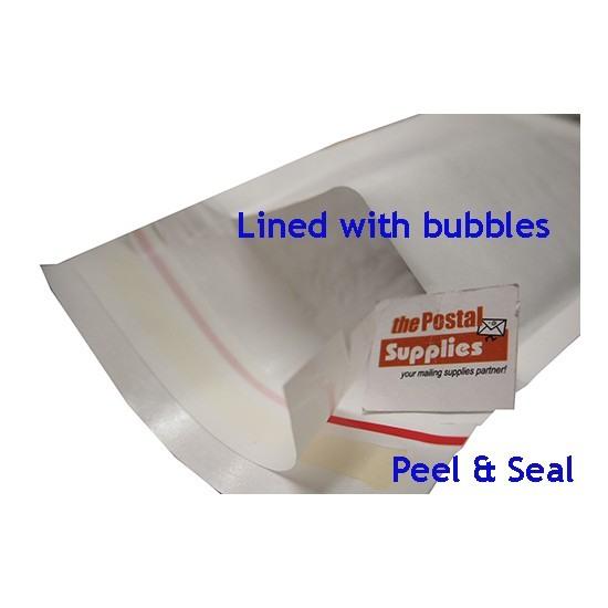 Kraft White Bubble Mailer #4 (C4) (10/pk)