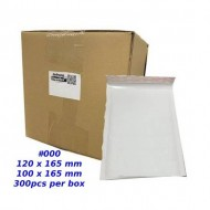 Kraft White Bubble Mailer #000 (Wholesale)