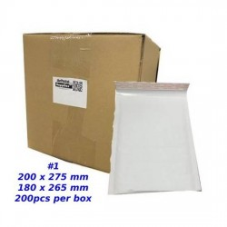Kraft White Bubble Mailer #1 (C5) (Wholesale)