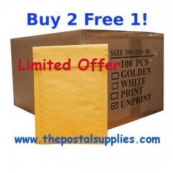 S5 Size Kraft Bubble Mailer (Wholesale) B2F1