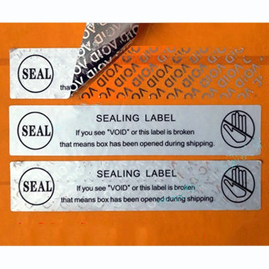 Tamper-Evident Void Security Stickers: SEALING LABELS