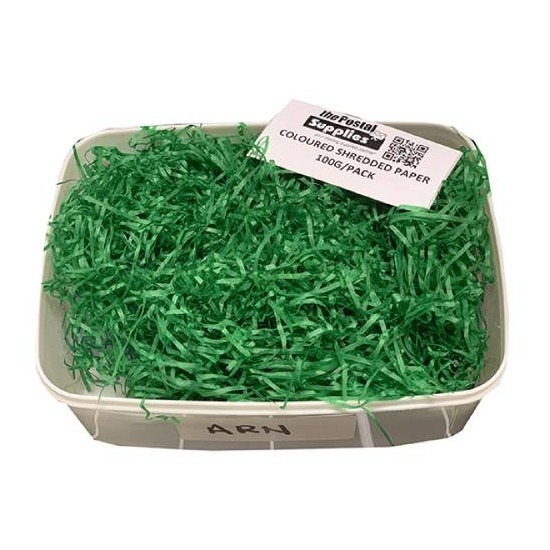 D.Green Shredded Paper