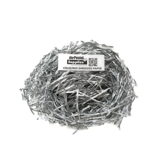 Metallic Silver Shredded Paper Fillers