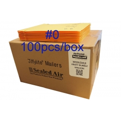 Jiffylite Kraft Bubble Mailer #0 (Wholesale)