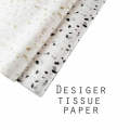20pcs Acid-Free Printed Tissue Papers - Stone