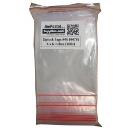 Ziplock Clear Bag #XS 4x6 (Pack of 100)