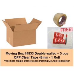 [Bundle] Moving Carton Box #4833 | OPP Clear Tape 48mm | Free Gifts