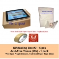 [Bundle] Gift/Mailing Box 2 | Acid-Free Tissue Paper | Free Fragile Stickers and Kraft Paper Tape 48mm