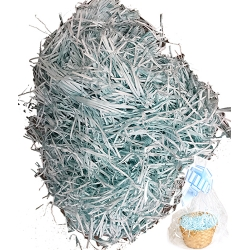 Wholesale Baby Blue Shredded Paper Fillers