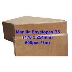 Manilla Envelope B5 7 x 10 (Box)