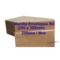 Envelope B4 10X14 Manilla (box)