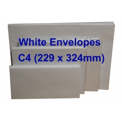 White Envelope C4 9 x 12-3/4 (Pack of 10)