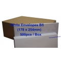 White Envelope B5 7 x 10 (Box)