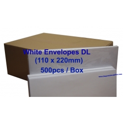 Envelope DL 110X220mm White (Box)