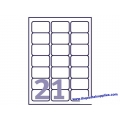 Avery L7160 Address Label 63.5x38.1 (2100s) Wht
