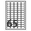 Avery L7651 Address Label 38.1x21.2 (6500s) Wht