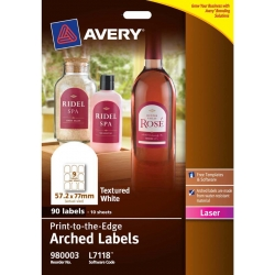 Avery® Textured White Arched Product Labels-L7118-10
