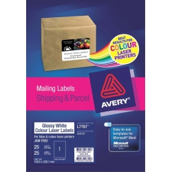 Avery® Glossy White Photo Quality Labels-L7767-25