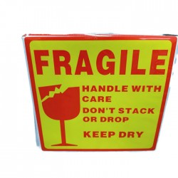 Square Fragile Sticker (10pcs)