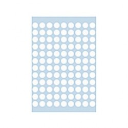 HERMA 1840 08MM COL DOTS ROUND - WHITE