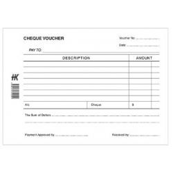 Cheque Voucher Pad