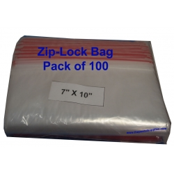 Ziplock Clear Bag #M 7x10 (Pack of 100)
